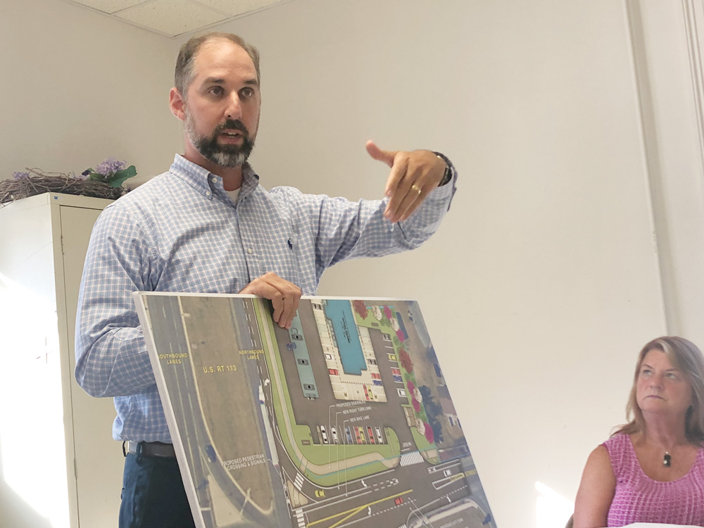 Jonathan N.H. Street of Becker Morgan Group represented Royal Farms at their presentation in front of the Dagsboro Town Council on Monday, July 15.