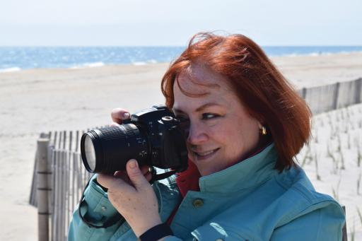 Artist Jennifer Carter takes to the beach with her camera. Carter specializes in photography, watercolor, oils and murals, and is one of the original artists of the SouthEastern Delaware Artist Studio Tour (SEDAST). She will be joined by 12 other artists on the Nov. 29-30 tour this year.