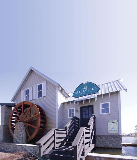 Millville by the Sea created this replica waterwheel to reimagine the mills for which the town was named.