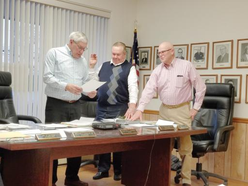 From left, Mayor Clifton Murray, G. Frank Smith III and Clarence 'Bud' Tingle Jr. all retained their seats on the Selbyville Town Council.