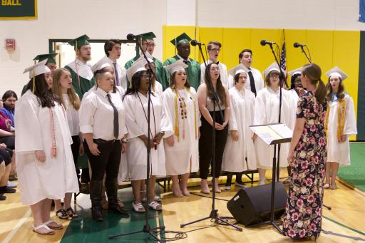 The new IRHS alma mater debuted at IRHS graduation on May 29,2019, performed by the River Rhythms a capella group.