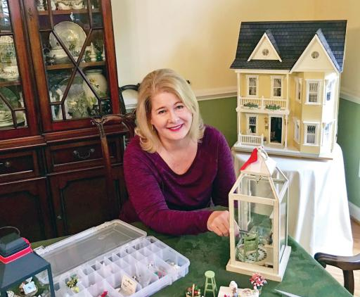 Local miniature artist Ann Cooper will unveil her newest one-of-a-kind creations, Christmas lanterns featuring Ellen Rice paintings in miniature, this Saturday, Dec. 8, from 10 a.m. to noon and 1 to 4 p.m.