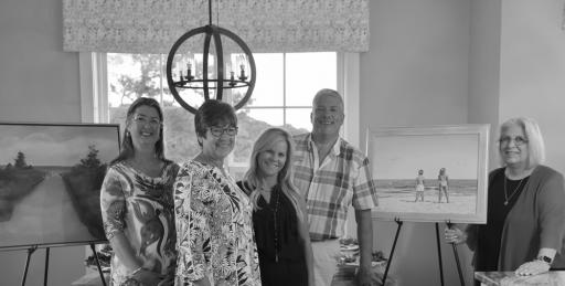 Evergreene Homes hosted a Meet-the-Artist event on Saturday, Sept. 7, with Cheryl Wisbrock and Ellen Rice.
