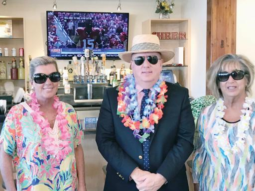 Organizers of the annual Beebe Beach Bash include, from left, Jen Carroll, event co-chair; Tom Protack, vice president of development, Beebe Medical Foundation; and Robyn Rosenfeld-Aburrow, event co-chair. The fundraising event will take place on June 8.