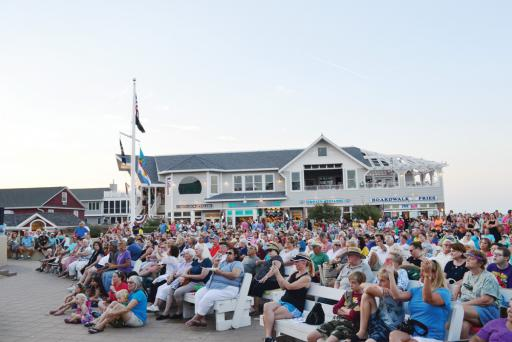 Acrowd of people enjoys a show at the Bethany Beach bandstand in 2018. The bandstand released its 2019 summer lineup, promising another season of entertainment.