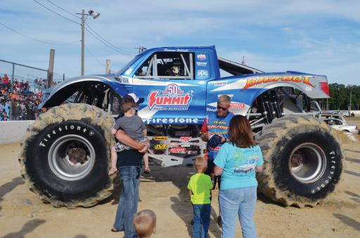 Big Foot was the highlight during a Monster Truck event at Georgetown Speedway on Friday and Saturday night, July 6 and 7.