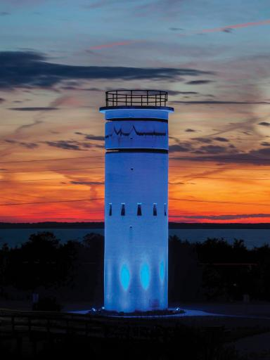 Restoration of World War II Fire Control Tower #3 south of Dewey Beach is set to continue this fall, beginning with removal of the lights and removing 2 feet of sand deposited in front of the door by the Storm of '62.