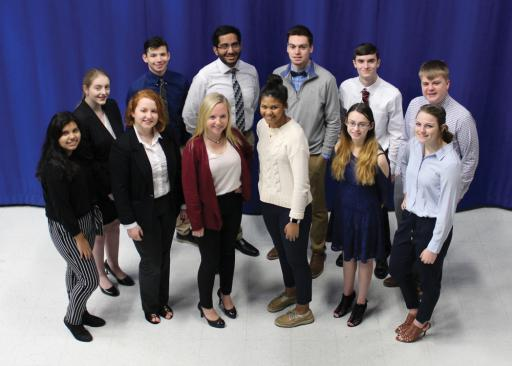 Members of Sussex Technical High School's BPA competition team recently challenged other BPA students from around the state.