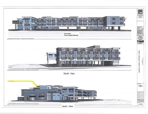 Architectural drawings of proposed Fenwick Sands Tapestry Hotel