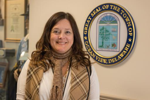 Ocean View Town Manager Carol Houck has been with the town for one year.