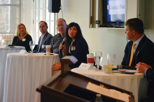 A panel comprising local business owners shared their stories of what it takes to adapt for survival in today's economy and markets during an event held by the Bethany-Fenwick Chamber of Commerce and SCORE at the Den at Bear Trap Dunes on Thursday, Oct. 4.