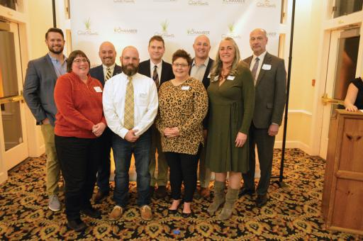 The Bethany-Fenwick Area Chamber of Commerce's new board of directors gathers at the 2019 'Best of the Quiet Resorts' awards.