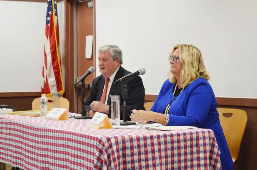 County Council candidates John Rieley and Ellen Magee shared their visions for District 5.