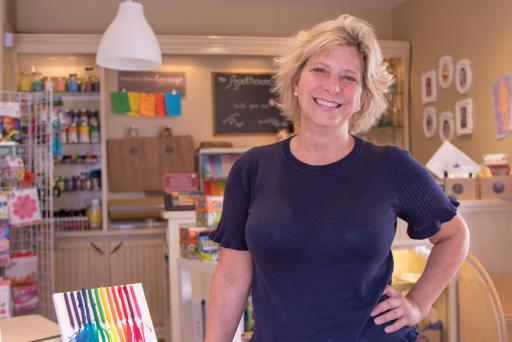 Shopkeeper and 'master tinker' Laurie Melniczek loves art, science and imagination at Craftbox in Fenwick Island.