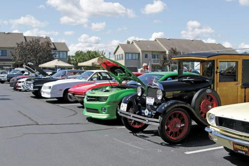 Show cars line the parking lot at Cripple Creek Golf & Country Club during last year's show. The proceeds from the event will benefit Operation SEAs the Day again this year.