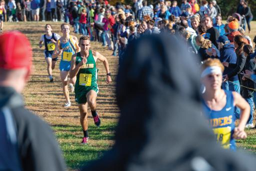 Indian River's Patrick Spencer finished in ninth place with a time of 17:31.8 minutes during the Henlopen Conference Championships on Saturday, Nov. 3.