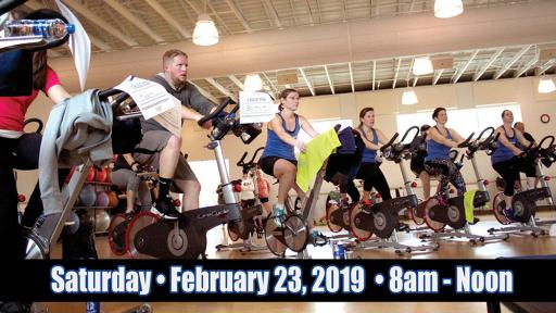 Riders from a previous Ride for Hospice event. The next event will be held Saturday, February 23rd from 8 a.m. to noon at The Freeman Fitness Center.