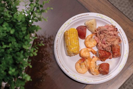 Delmarva Boil Company prepared shrimp, sausage, potatoes, corn-on-the-cob and pulled pork for a Mardi Gras party at The Salt Pond back in March.