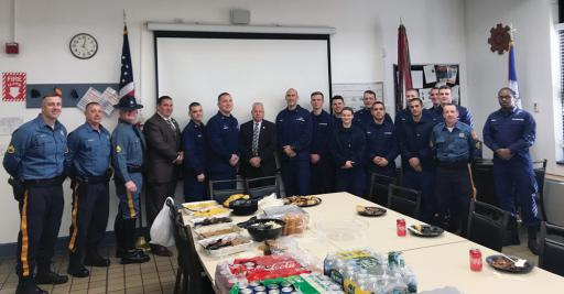 The Delaware State Troopers Association, the Delaware State Police Union and the Delaware State Police Maritime Unit took food for all the Guardsmen stationed at the Indian River station on Tuesday, Jan. 22.