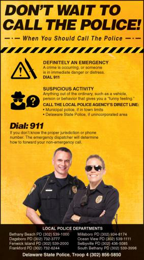 Police advise people to call them over suspicious people, incidents, rather than waiting and even posting to Facebook. Time can be of the essence.