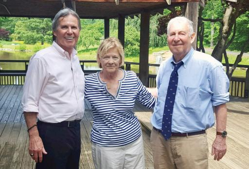 Roger Wagner, left, Nancy Katz, center, and Dr. Mayer Katz met as part of the program 'We'll Meet Again.'