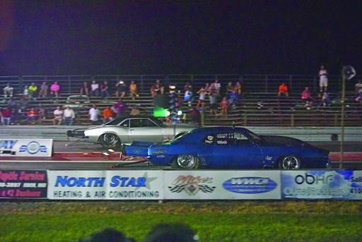 Mark Benston Jr. pulls ahead in a race against Ronnie Pace on Wednesday, Aug. 29.