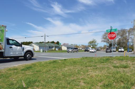Drivers need to be more cautious at the Hudson Crossroads of Route 54, as photographed from the southeast corner of the intersection.
