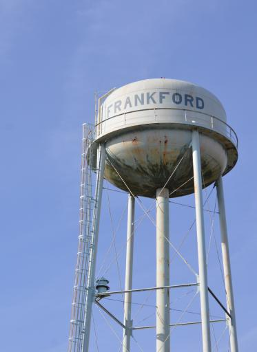 Frankford's municipal water tower