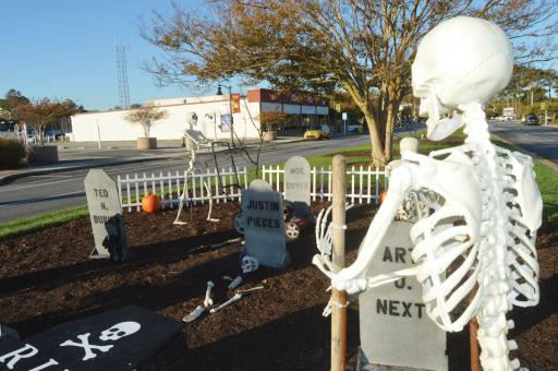 Garfield Parkway in Bethany Beach has been taken over by some bony-looking maintenance folks. Don't worry — they're just helping to prepare the town for the Wags, Witches & Warlocks event, set for Saturday, Oct. 26.