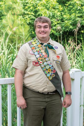 Sean Wilson recently earned the rank of Eagle Scout, completing his project at Ingram Pond in Millsboro. Wilson plans to attend college as a music education major.