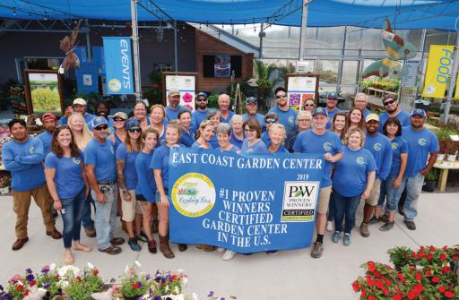East Coast Garden Centers was recently awarded Proven Winners top location in the U.S.