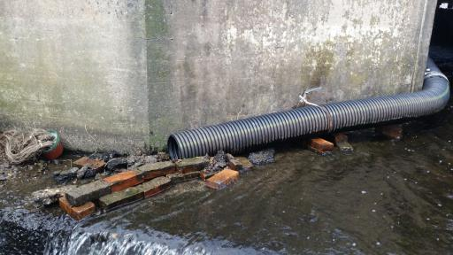 This pipe is providing the American eel passage to Delaware freshwater estuaries.