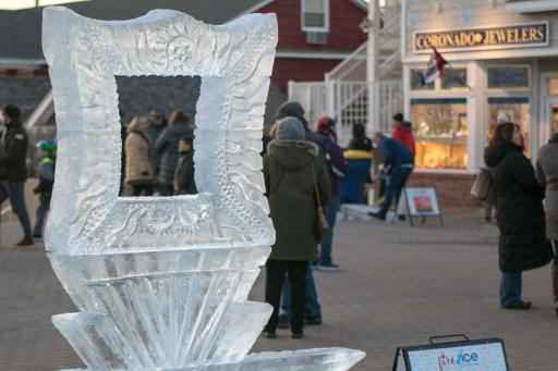 An ice sculpture is on display during last year's Fire & Ice Festival in Bethany Beach.