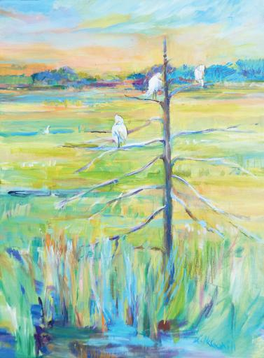 Lesley McCaskill shares some 'Backyard Visitors' with us. See it in person in Gallery One's May show.