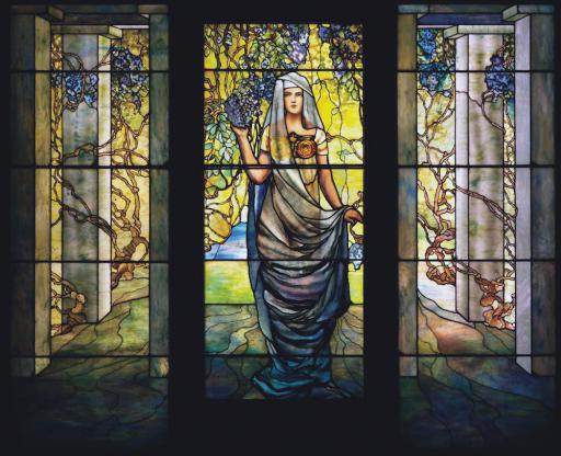 Tiffany Studios', 'Woman with Wisteria,' is a leaded glass peice that will be on display during the tour at the Chrysler Museum of Art.
