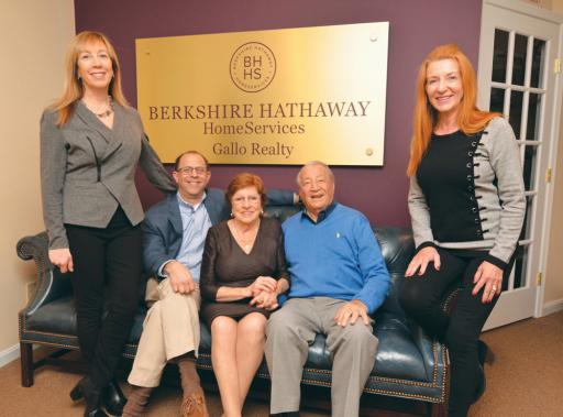 Still a family-run company, Bette and Sal Gallo are pictured with their children — all very active in the business — from left, Tricia Ratner, Andrew Ratner and Lee Ann Wilkinson.