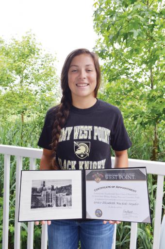 Grace Snyder will follow four generations of her mother's family into U.S. military service. She is the first female IRHS grad to attend West Point.