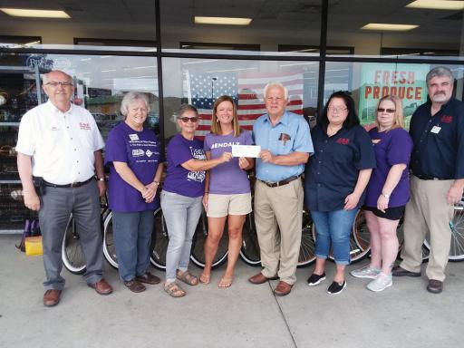 G&E Hocker's donated $5,000 to representatives of the Alzheimer's Assocation Delaware Valley Chapter on Monday, Aug. 19.