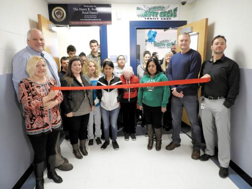 Howard T. Ennis School students held a ribboncutting for their new thrift store, 'Thrifty Eagle' on Friday, Jan. 4.