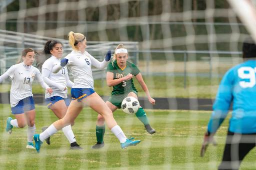 Indian River's Isabella Binko takes  a shot against Sussex Central a  few weeks ago.