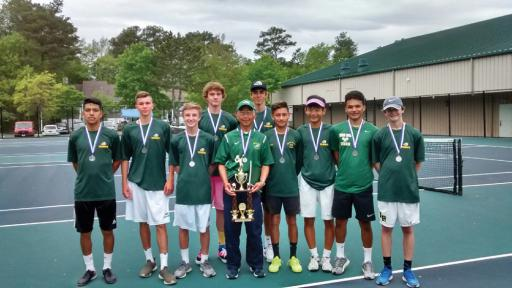 The Indian River High School boys' tennis team poses for a photo after the HAC Championships.
