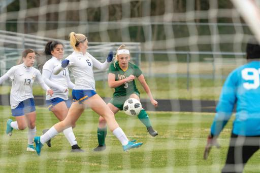 Indian River's Isabella Binko takes a shot in a gamer earlier this year. Binko was named to the All-State team and the Elite Top XI.