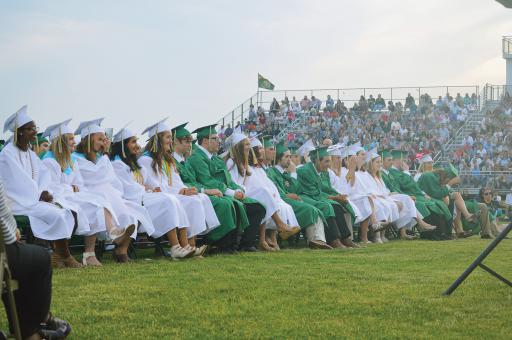 Students from the Indian River High School Class of 2018 enjoy the happenings at their graduation ceremony on Tuesday, May 29.