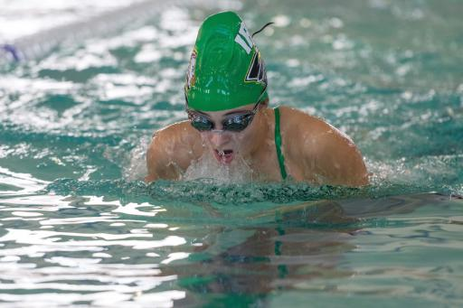 Indian River's Emma Barthelmess competes in a match last year at Sussex Academy. Barthelmess posted a state-qualifying time in the 100m breaststroke.