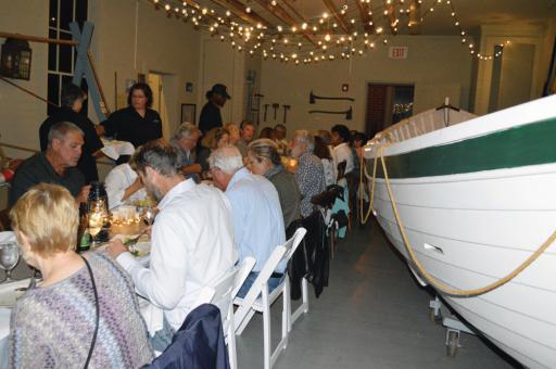 Patron's enjoy last year's Indian River Life-Saving Station's surfman's dinner.