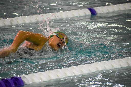 Emma Barthelmess gets a win earlier this season in the 200m freestyle.