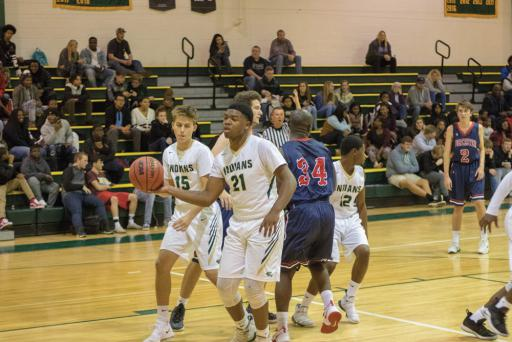 Jamier Felton gets the ball in IR's matchup vs. Worcester Prep in the Indians Tip-Off Classic last weekend.
