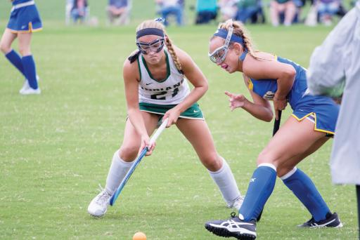Indian River's Savannah O'Shields fights for possesion of the ball during IR's match vs. Sussex Central last week.
