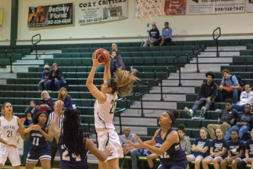 Micayla Meehan grabs a pass during a game earlier this season.