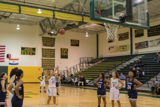 IR's Micayla Meehan shoots a free-throw earlier this season.